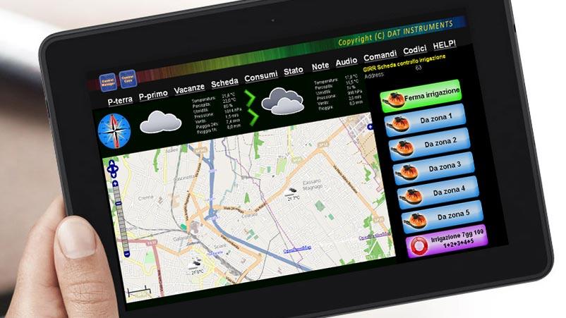 Control Casa, EVO-Garden, azionamento irrigazione domotica da tablet
