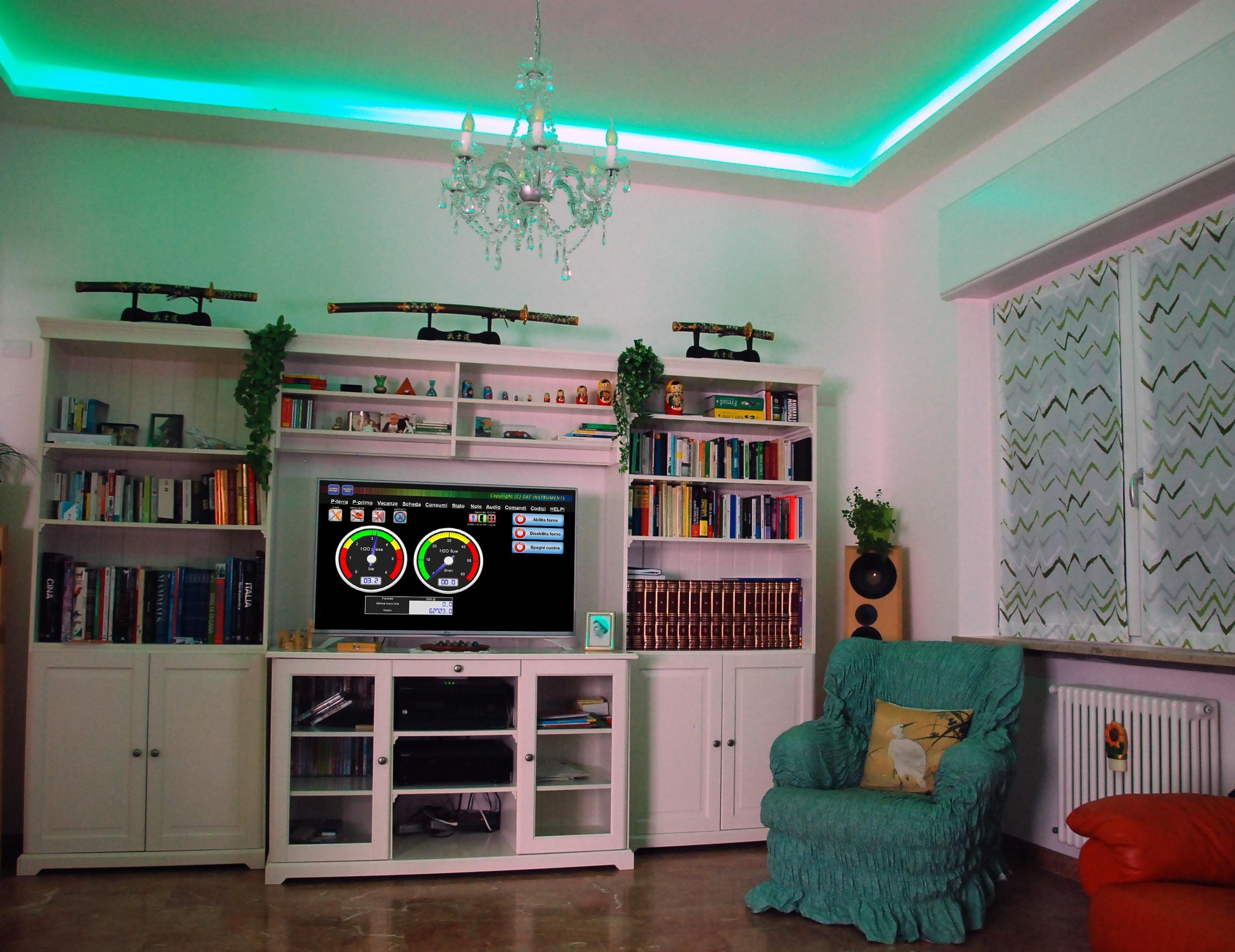 Control Casa, impianto domotico, domotica, elettrosmog, onde elettromagnetiche, salotto, impianto odmotico provincia di Varese