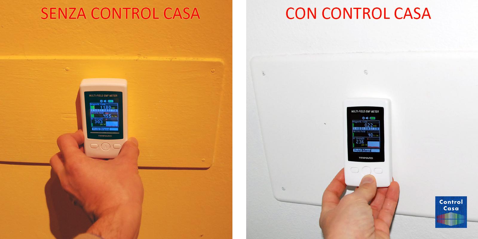 Control Casa, elettrosmog impianto elettrico cassetta derivazione, domotica, impianto domotico