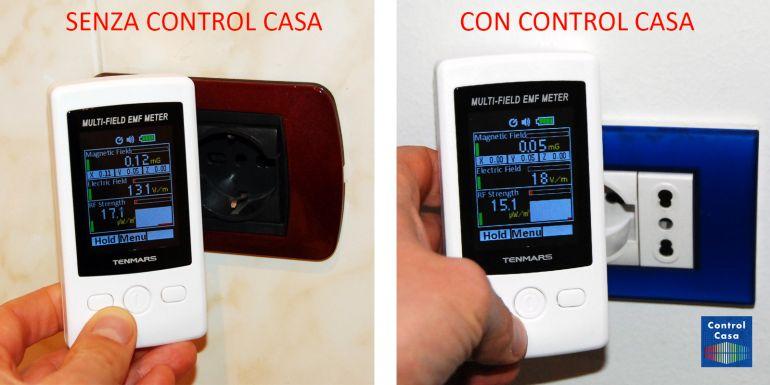 Control Casa, elettrosmog impianto elettrico presa, domotica, impianto domotico