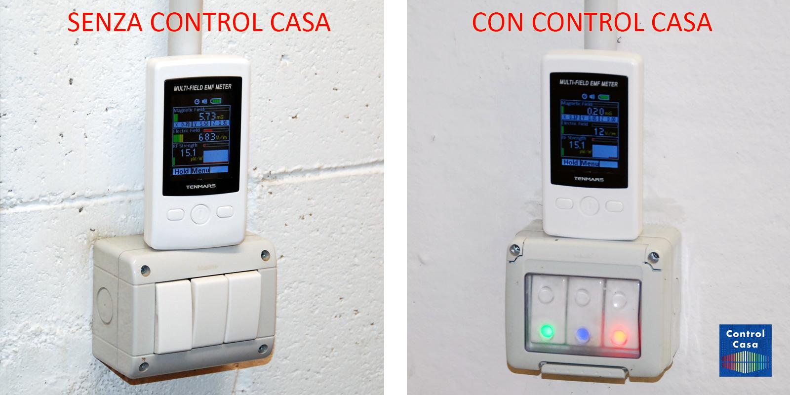 Control Casa, elettrosmog impianto elettrico pulsanti, domotica, impianto domotico, elettrosmog