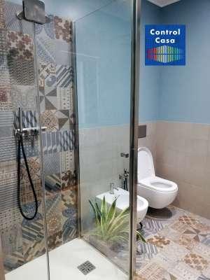 Bagno ristrutturato, control casa, domotica, impianto domotico, milano City life, elettrosmog, onde elettromagnetiche